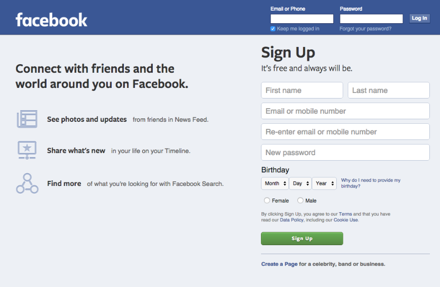 What You Can Learn From The Simplicity Of Facebook Login Page